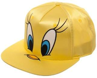Women's Tweety Bird Big Face Satin Flat Bill Hat