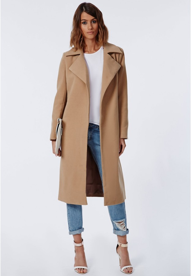 Khloe Oversized Premium Waterfall Coat Camel 6