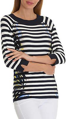 Betty Barclay Graphic Stripe Jumper, Dark Blue/Cream