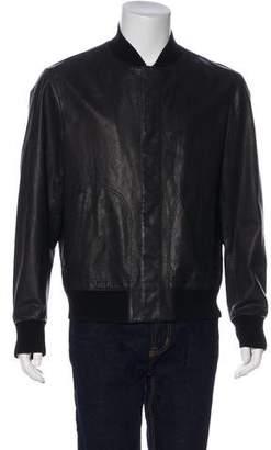 Bottega Veneta Wool-Trimmed Leather Jacket