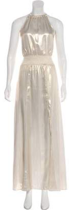 Calypso Sleeveless Maxi Dress Gold Sleeveless Maxi Dress