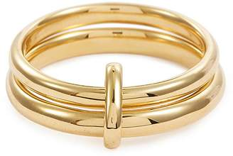 HYÈRES LOR 'Couple' 14k gold double band ring