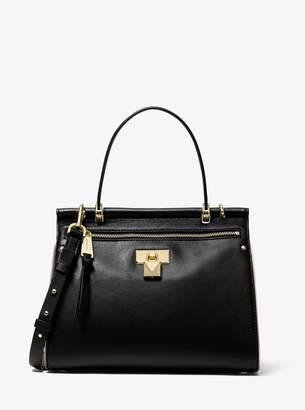 MICHAEL Michael Kors Jasmine Medium Leather Satchel