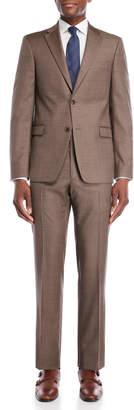 Tommy Hilfiger Two-Piece Brown Neat Vassar Wool Suit