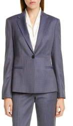 BOSS Jaliana Blurred Minidessin Wool Jacket