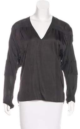 Reed Krakoff Silk V-Neck Top