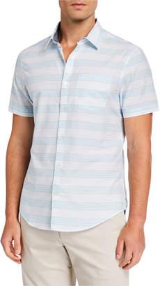 Original Penguin Men's Lawn Horizontal Stripe Sport Shirt