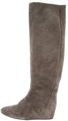 Lanvin Suede Over-The-Knee-Boots
