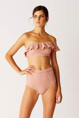 Suboo One Shoulder Bikini Top - Rose Gold