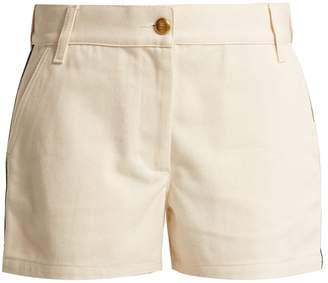 Gucci Web-stripe cotton-drill shorts