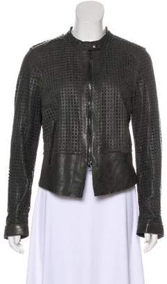 Dolce & Gabbana Laser Cut Leather Jacket