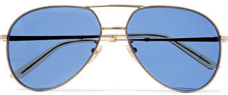 Gucci Aviator-style Gold-tone Sunglasses - one size