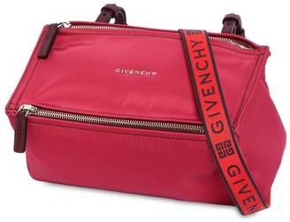 Givenchy Mini Pandora Nylon Bag W/ Logo Strap