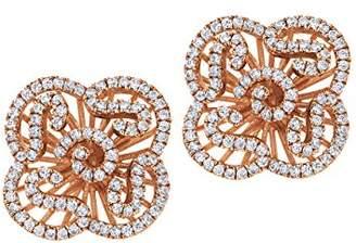L・I・U Fei Liu Fine Jewellery Cascade Womens Mini Earrings Award-winning Design 925 Sterling Silver AAA Cubic Zirconia Gift Box Packed