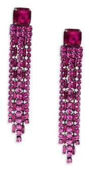 Kate Spade Fuchsia Crystal Fringe Drop Earrings