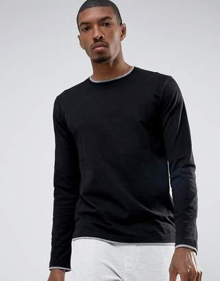Esprit Long Sleeve T-Shirt with Contrast Hem Details