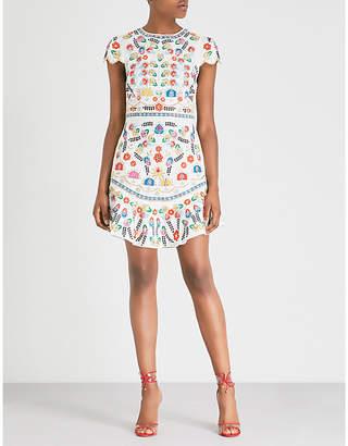 Alice + Olivia Alice & Olivia Rapunzel floral embroidered dress