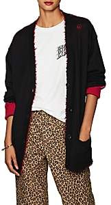 R 13 Women's Distressed Cashmere Reversible Cardigan