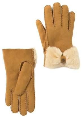 UGG Genuine Sheepskin Bow Water Resistant Suede Glove