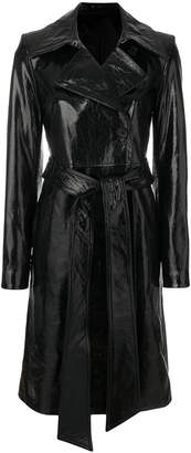 Helmut Lang patent trench coat