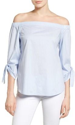 Women's Halogen Tie Sleeve Off The Shoulder Top $59 thestylecure.com
