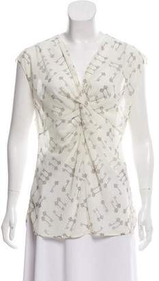 Ted Baker Printed Short Sleeve Blouse