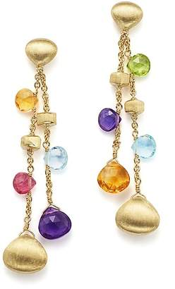 Marco Bicego 18K Yellow Gold Paradise Gemstone Teardrop Double Strand Earrings