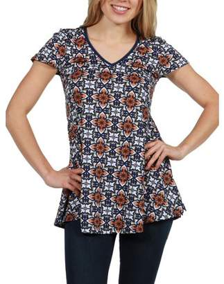 24/7 Comfort Apparel 24Seven Comfort Apparel Bella V-Neck Fashion T-Shirt