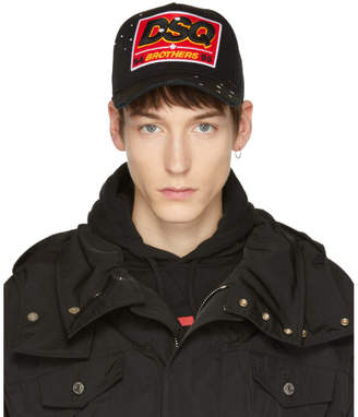 DSQUARED2 Black DSQ Brothers Cap