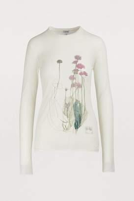 Loewe Long-sleeved botanical T-shirt