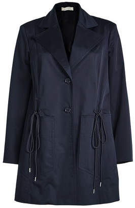 Nina Ricci Cotton Jacket with Drawstring Ties