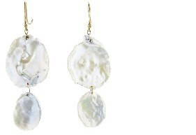Ten Thousand Things Double Freshwater Pearl Disc Earrings