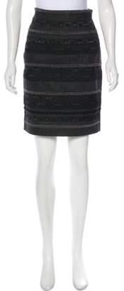 Alberta Ferretti Vintage Lace Knee-Length Skirt Grey Vintage Lace Knee-Length Skirt