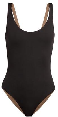Skin - The Lana Reversible Swimsuit - Womens - Black Brown