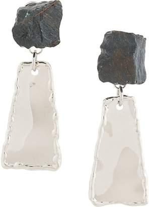Proenza Schouler stone drop earrings