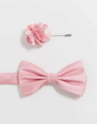 2662854bb4e7 Ben Sherman bow tie and lapel pin set