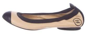 Chanel CC Quilted Leather Flats