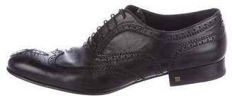 Louis Vuitton Leather Wingtip Brogues