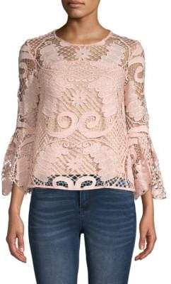 Endless Rose Bell-Sleeve Lace Top