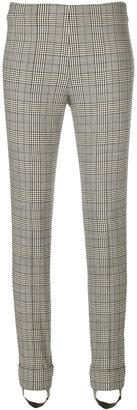plaid print skinny trousers