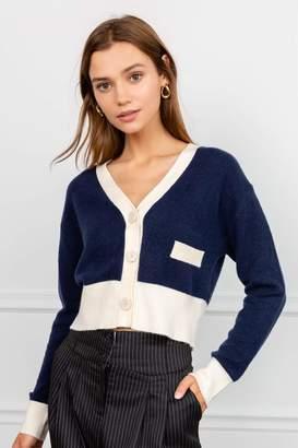 J.ING Piper Navy Blue Knit Cardigan