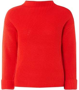 Dorothy Perkins Womens Petite Red High Neck Jumper
