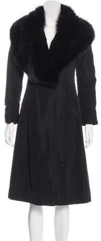 Fendi Fur Collared Long Coat