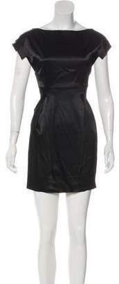 Black Halo Pleated Mini Dress