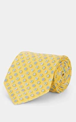 Salvatore Ferragamo Men's Beach-Umbrella-Print Silk Twill Necktie - Yellow