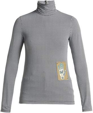 Chloé Houndstooth jersey roll-neck top