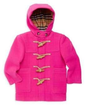 Burberry Little Girl's& Girl's Burford Wool Duffle Coat