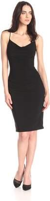 Laundry by Shelli Segal Women's Skinny Strap Side Shirred Tank Dress