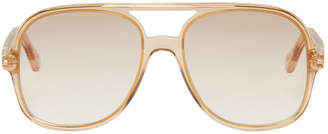Chloé Pink and Gold Double Bridge Sunglasses
