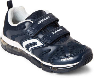 Geox Kids Boys) Navy & White Android Light-Up Sneakers